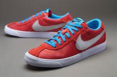 Nike Sportswear Bruin Low - Mens Select Footwear - Light Crimson-Metallic Silver-Vivid Blue-White