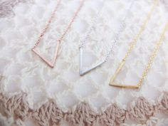 V Necklace Triangle necklace Silver Necklace Geometric necklace Simple necklace Sale Christmas Gift mom Birthday Gift best friend Birthday by SeablueBoutique on Etsy https://www.etsy.com/listing/164822122/v-necklace-triangle-necklace-silver