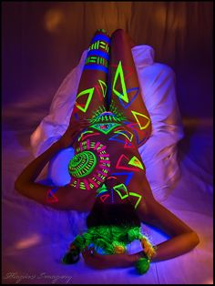 neon body paint #neonbodypaint