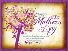 To all you wonderful Mother's
