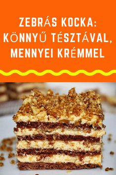 Hungarian Recipes, Cake Bars, Dessert Recipes, Sweets, Bread, Food And Drink, Cookies, Ethnic Recipes, Cakes