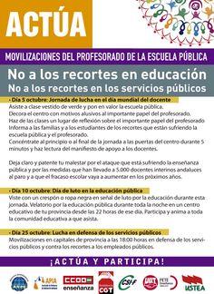 ACTÚA Movilizaciones del profesorado de la escuela pública
