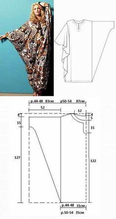 Платье-балахон для полных: выкройки | Дама - выкройки