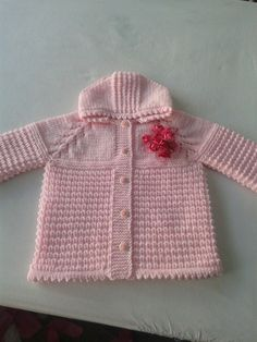 Kapşonlu bebek hırkası. Bilge çeyiz. Knitting, Crochet, Sweaters, Fashion, Crochet Hooks, Moda, Tricot, La Mode, Breien