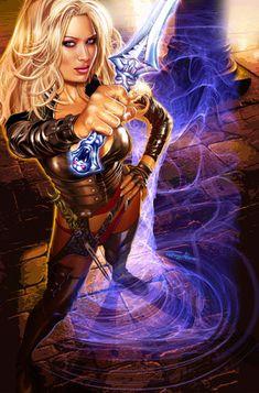 Jenna Jameson's comic book Shadow Hunter from Virgin Comics