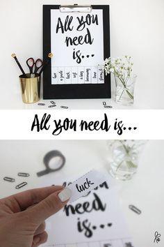 All you need! Abreißzettel
