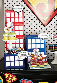 Comic Book Style Super Hero Party - {Budget Friendly