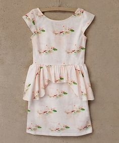 Love this Pink & Green Floral Mirelle Dress - Toddler & Girls on #zulily! #zulilyfinds