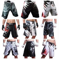 2015 Mens MMA Shorts MMA fight trunks for men arts seen Pretorian boxing Sanda Muay Thai Shorts mma bad boy short trunks