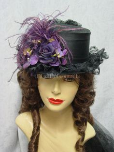 Victorian Edwardian Old West style Elsie Massey Riding Hat MADE IN USA #ElsieMassey