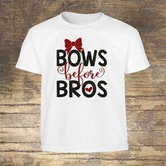 Bows Before Bros Glitter Shirt