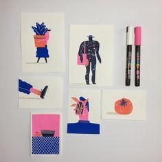 Sketchbook Inspiration, Art Sketchbook, Sketchbook Designer, Pen Art, Marker Art, Funny Illustration, Digital Illustration, Art Sketches, Art Drawings