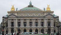 The Opera, Paris. By Garnier.  Combination of Renaissance and Baroque styles. Ecole des Beaux Arts