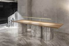 The Seoul café scene is going so fast that this designer figured out a way to go slow - News - Frameweb Table Desk, Table Furniture, Furniture Design, Cafe Interior, Interior Design, Seoul Cafe, Restaurant Furniture, Restaurant Design, Coffee Shop