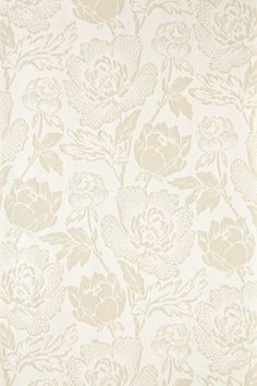 """""""Peony"""" wallpaper from Farrow & Ball //Peony is a classic english floral pattern drawn from 19th century pure silk woven jacquards. Based on the ornamental Peony flower, this sumptuous and curvaceous design brings contemporary glamour to a traditional and romantic floral print."""
