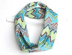 Tribal Infinity Scarf  Circle Cowl Scarf by handmadetherapy
