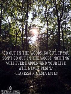 Go out into the woods.. - Clarissa Pinkola Estes WILD WOMAN SISTERHOOD✨