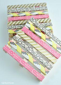 Sous-verre décorés de washi tape