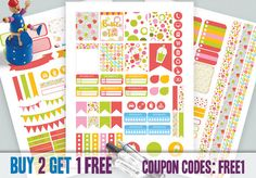 BUBBLE TEA Colorful Planner Stickers, Printable Planner Stickers, Weekly Kit, Erin Condren Life Planner, Planner Stickers, DIY stickers