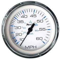 Faria Chesapeake White SS 4 Speedometer - 60MPH (Mechanical)