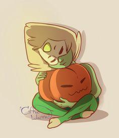 Little Peri with her pumpkin
