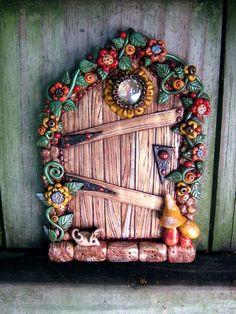 Image result for super sculpey fairy door