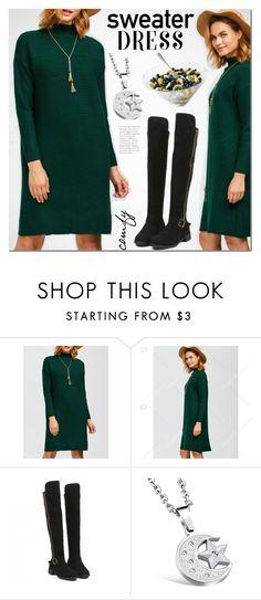 """Sweater dress"" by mada-malureanu ❤ liked on Polyvore"