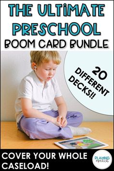 Sep 14, 2020 - Save 20% by buying this complete Boom Card Bundle!This Boom Card bundle contains everything you need to get started with preschool/early language distance learning! 20 different decks included that can be used to target any goal on your caseload!Decks Included:WH- QuestionsWho QuestionsWhat Question... Articulation Activities, Language Activities, Preschool Activities, Preschool Speech Therapy, Speech Therapy Activities, Speech And Language, Decks, Distance, Goal