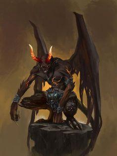 m Devil hells ArtStation - Monster, G ZH Fantasy Monster, Monster Art, Dark Fantasy Art, Fantasy Artwork, Demon Artwork, Fantasy Character Design, Character Art, Ange Demon, Fantasy Beasts