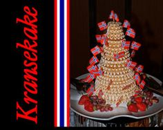 Kransekake usually comes with flag on it, but sometimes you will see party poppers or other decorations.