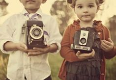children with cameras