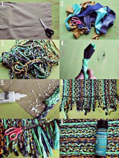 Make Your Own Braided Rug – A Beautiful Mess – Braided Rugs Make Your Own, Make It Yourself, How To Make, Tapetes Diy, Fabric Crafts, Sewing Crafts, Diy Tapis, Diy Braids, Braided Rugs