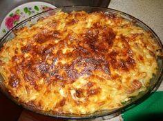Υλικά  1 πακέτο μακαρόνια πένες  λουκανικάκια κοκτέιλ τουλάχιστον 8-9 μπορείτε να τα αντικαταστήσετε με μπέικον κομμένο μικρά κομματ... Cookbook Recipes, Cooking Recipes, Penne, Rigatoni, Baked Pasta Dishes, Greek Cooking, Greek Dishes, Appetisers, Greek Recipes