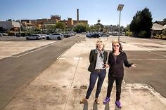 Residents Kathryn James and Caroline Hardy want the park built. Picture: Mathew Lynn