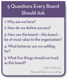 5 Questions Every Board Should Ask - Ignited Fundraising Nonprofit Fundraising, Fundraising Ideas, Board Governance, Start A Non Profit, Small Business Organization, Manager Quotes, Grant Writing, Social Entrepreneurship, Boards