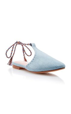 Arianna Lace Up Babouche Slipper