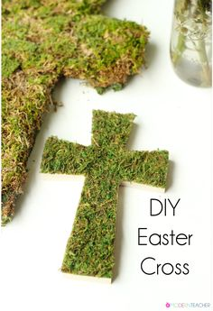 DIY Easter Cross - This simple Easter cross is the perfect Spring decor for your house!