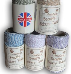 "Everlasto ""Beautiful"" Bakers Twine Pastel Colour Craft Pack - 5 x 20m"