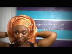 Ewar Makeovers - How To Tie Gele - YouTube How To Tie Gele, Head Wrap Scarf, Head Scarfs, Scarves, Afro, Yoruba Wedding, African Traditions, African Head Wraps, Bantu Knots