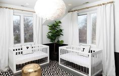 Photography: Hallie Duesenberg - www.HallieDuesenberg.com Read More on SMP: http://www.stylemepretty.com/living/2016/04/21/pulling-off-a-modern-gender-neutral-nursery-for-twins/