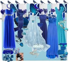 """IT IS ALL BLUE TO ME..."" by figenozkilic on Polyvore"