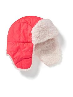 Nylon Quilted Trapper Hat for Girls