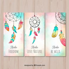 Boho cards collection in watercolor styl. Easy Doodle Art, Doodle Art Drawing, Cool Art Drawings, Dream Catcher Painting, Dream Catcher Drawing, Dibujos Zentangle Art, Creative Bookmarks, Watercolor Bookmarks, Diy Canvas Art