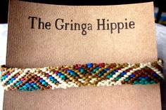 Striped Macrame Friendship Bracelet Ankle Bracelet Woven Friendship Bracelet by TheGringaHippie on Etsy