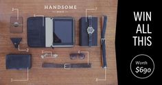 Win A Handsome Leather Prize Pack http://handsomedeals.com.au/giveaways/loop-leather-co/?lucky=640