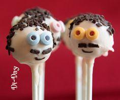 Cake pops Monsieur à moustaches