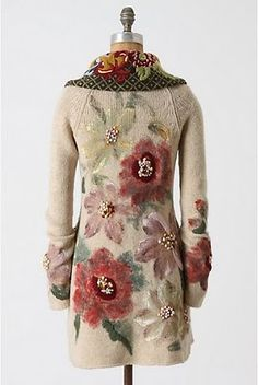 Passion For Fashion: New Anthropologie Love Boho Fashion, Winter Fashion, Womens Fashion, Fashion Design, Sweater Coats, Unique Outfits, Refashion, Passion For Fashion, Mantel