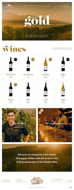 Gold Hill Winery Website on Behance