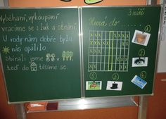 výzdoba třídy Aa School, School Clubs, First Day Of School, School Ideas, Chalkboard, Classroom, Education, First Day Of Class, Class Room