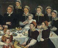 Cournelius de Zeeuw (attributed): Pierre de Moucheron and his wife, Isabeau de Berbier with their children in Antwerp, 1563